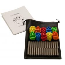 FingerWeights Finger Exerciser - 10 adjustable weight set, multi-colored