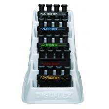 CanDo® VariGrip® hand exerciser - set of 5 (yellow, red, green, blue, black), with plastic rack