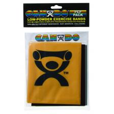 CanDo® Low Powder Exercise Band Pep™ Pack - Challenging with black, silver and gold band