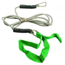 CanDo® exercise bungee cord with attachments, 7', Green - medium