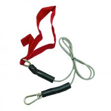 CanDo® exercise bungee cord with attachments, 4', Red - light