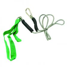 CanDo® exercise bungee cord with attachments, 4', Green - medium