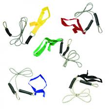 CanDo® exercise bungee cord with attachments, 4', set of 5 (yellow through black)