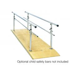 Parallel Bars, wood platform, height adjustable, 10' L x 30 W x 26 - 44 H