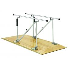 Parallel Bars, wood platform mounted, height adjustable, 7' L x 22.5 W x 31 - 41 H