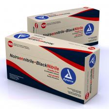 Dynarex 2521, Nitrile Exam Gloves, Black - Sm 10/100/Cs