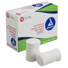 Dynarex 3102, Stretch Gauze Bandage Roll N/S 2 - 8/12/Cs (96)