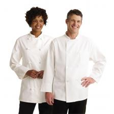 Knot Button Chef Coats,White,32