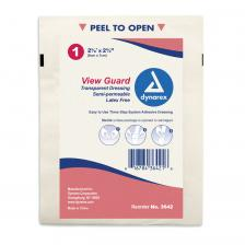 Dynarex 3642, View Guard Transparent Dressing 2 3/8X2 3/4 St - 4/100/Cs