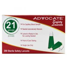 Advocate Safety Lancets  21G x 2.4mm