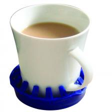 Dycem® non-slip molded cup/can/glass holder (3-1/2 diameter), blue