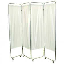 Standard 3-Panel Privacy Screen with casters - Green 6 mil vinyl, 48 W x 68 H extended, 19 W x 68 H x2.5 D folded