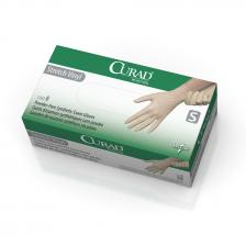 CURAD Stretch Vinyl Exam Gloves - CA Only,Cream,Small