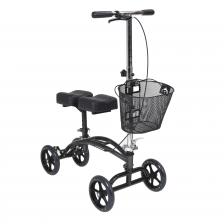 Dual Pad Steerable Knee Walker with Basket, Alternative to Crutches