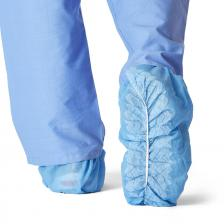 Spunbond Polypropylene Non-Skid Shoe Covers,Blue,X-Large