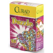 CURAD Dazzle Adhesive Bandages,Foil Holographic,No