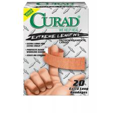 CURAD Extreme Hold Bandages,Brown,Yes