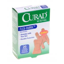 CURAD Flex-Fabric Bandages,Brown,Yes