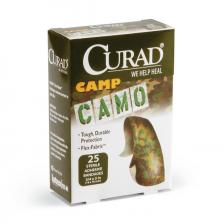 CURAD Camo Fabric Adhesive Bandages,Assorted Colors,No