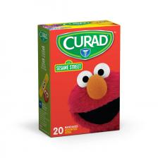 CURAD Sesame Street Adhesive Bandages,Assorted Colors,Yes
