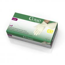 CURAD Powder-Free Textured Latex Exam Gloves,Beige,X-Small