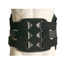 ITA-MED Back Support Lumbo-Sacral Orthosis (Chair Back): LSO-981, Small, Grey/Black