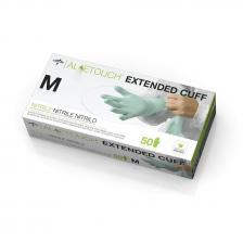 Aloetouch Extended Cuff Chemo Nitrile Exam Gloves,Green,Medium