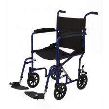 Aluminum Transport Chair with 8 Wheels,Blue,F: 8   R: 8