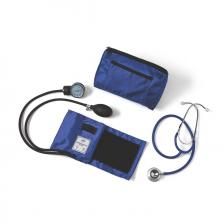 Compli-Mates Dual Head Aneroid Sphygmomanometer Combination Kits,Royal Blue,Adult