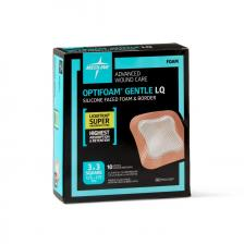 OptiFoam Gentle Silicone Faced Foam And Border With Liquitrap, 3 x 3