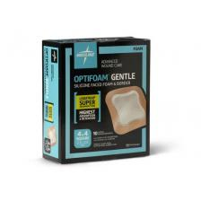 OptiFoam Gentle Silicone Faced Foam And Border With Liquitrap, 4 x 4