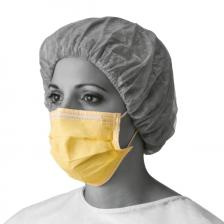 Isolation Face Masks with Earloops,Yellow