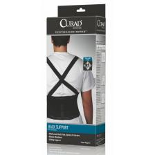 CURAD Back Support with Suspenders,Black,2X-Large