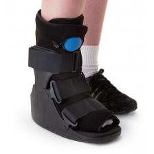 Deluxe Pneumatic Ankle Walkers,Black,Large