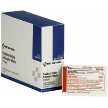 First Aid Only G310 PVP Iodine Wipes, 50/box