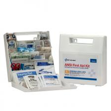 First Aid Only 90639 50 Person First Aid Kit, ANSI A+, Plastic Case with Dividers