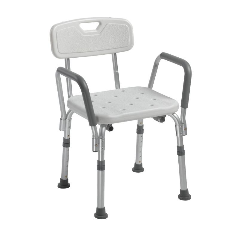 Knock Down Bath Bench With Back And Padded Arms Drive