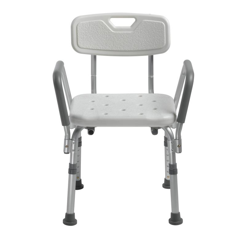 Knock Down Bath Bench With Back And Padded Arms Drive Medical 12445kd 1knock Down Bath Bench