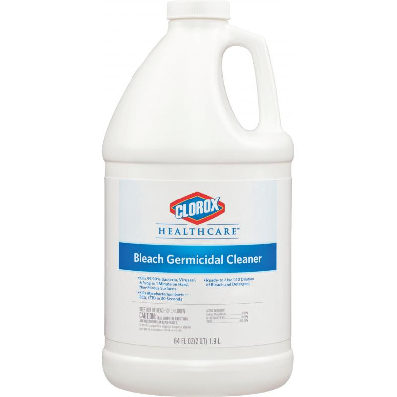 clorox germicidal bleach clorox healthcare bleach germicidal cleaner 64 000 oz. Black Bedroom Furniture Sets. Home Design Ideas