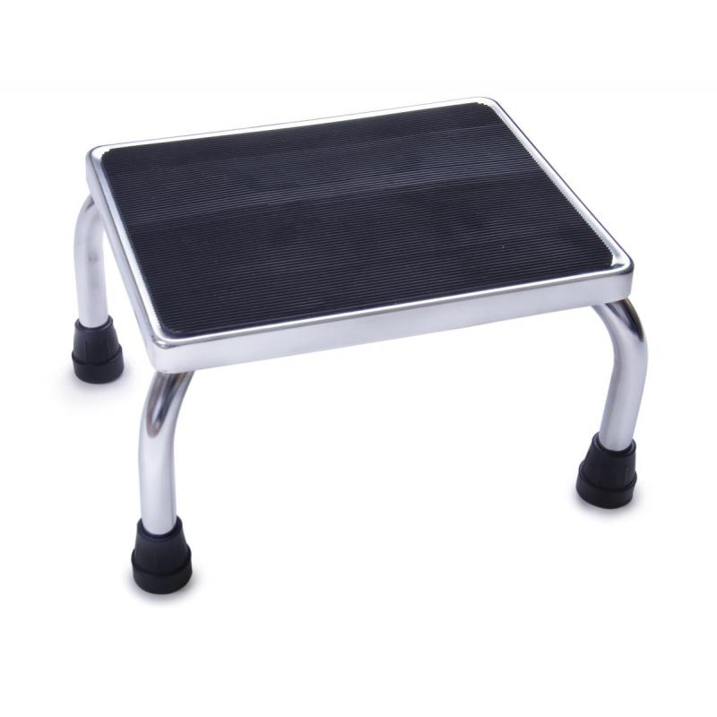 Chrome Footstool With Rubber Mat Medline