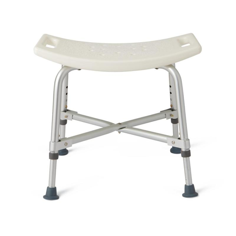 Pediatric Bath Chair Bariatric Heavy Duty Shower Chair without Back | Medline- MDS89740AXW