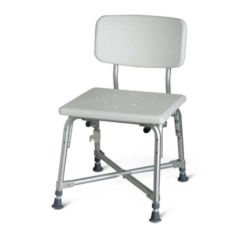Aluminum Heavy Duty Shower Chair/Bath Bench with Back | Medline ...