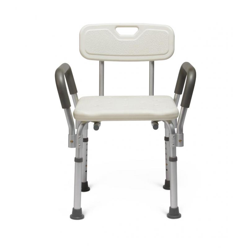 Knockdown Bath Bench With Arms White