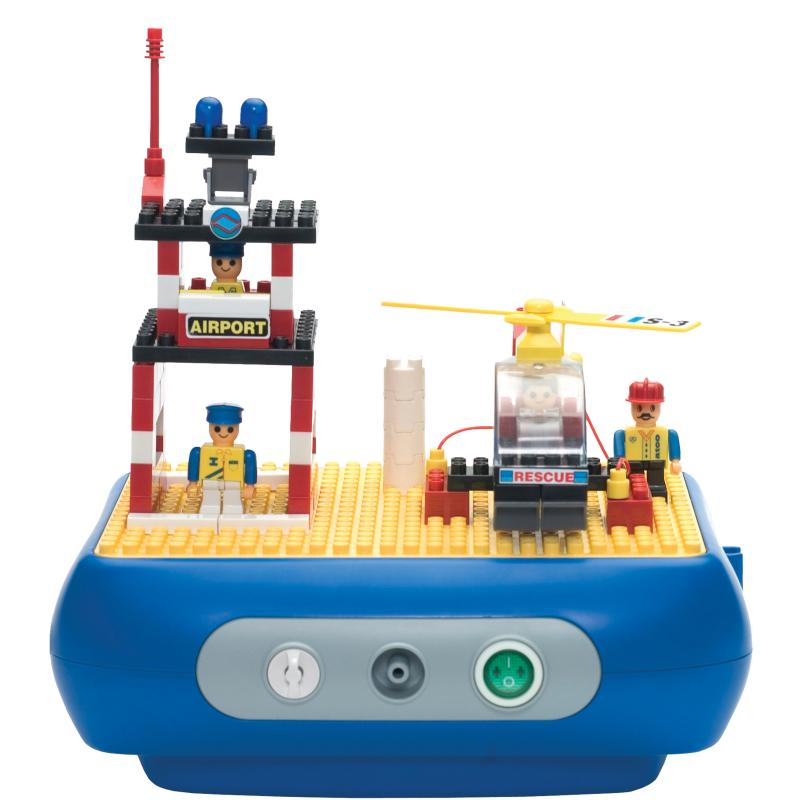 Interactive nebulizer building block kit heliport for Interactive house builder
