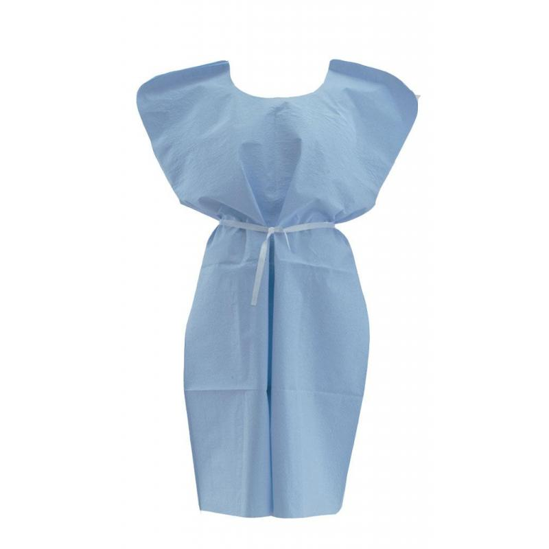 Disposable X-Ray Patient Gowns, Blue | MEDLINE - NON24354