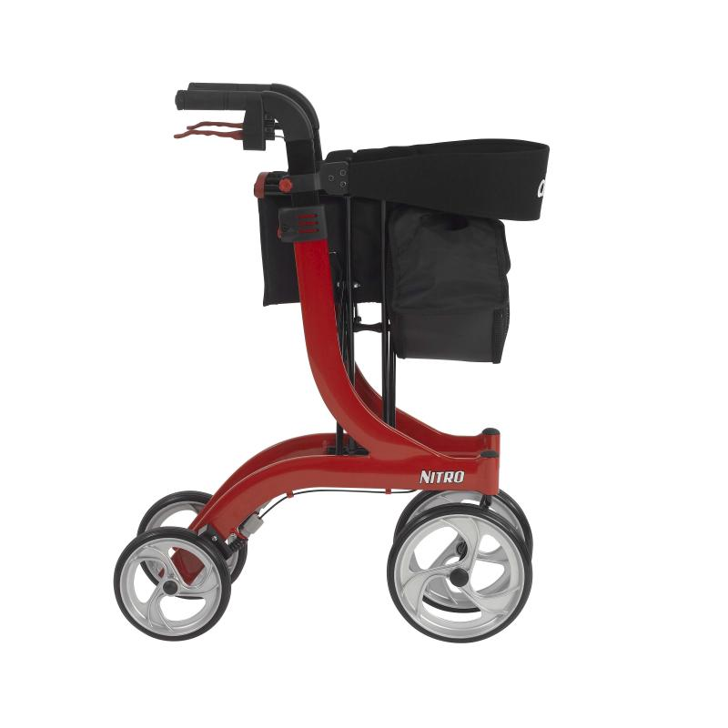 Nitro Euro Style Walker Rollator Red Drive Medical