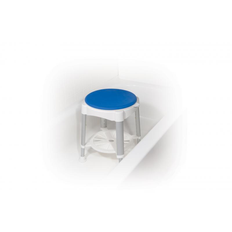 Bath Stool With Padded Rotating Seat Drive Medical