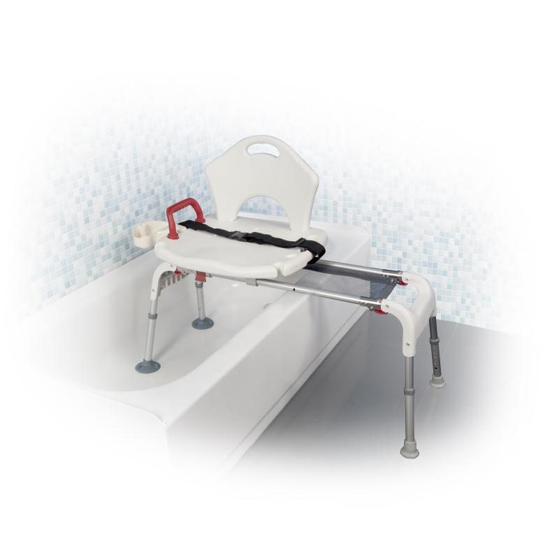 Folding Universal Sliding Transfer Bench White Drive