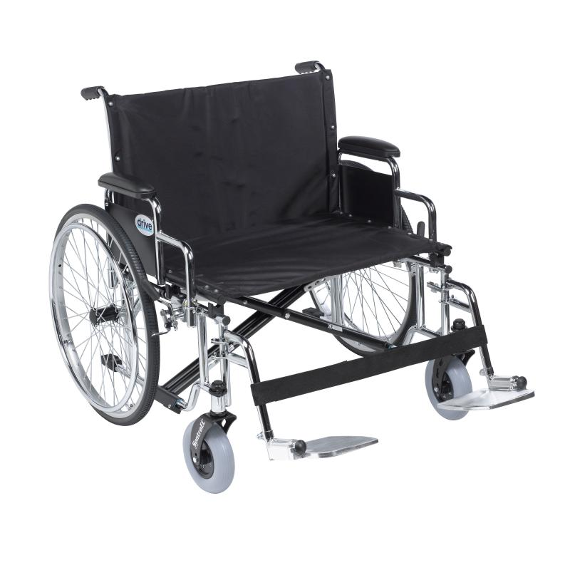 Sentra ec heavy duty extra wide wheelchair detachable for Extra wide swing seat